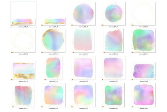 Rainbow and Gold Watercolor Elements Graphic Illustrations By Digital Curio - Image 4