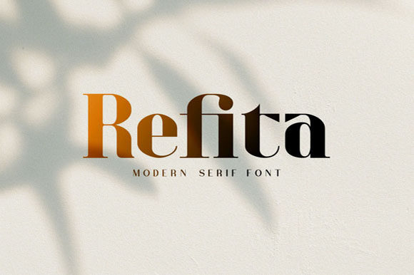 Print on Demand: Refita Serif Font By Hanzel Studio