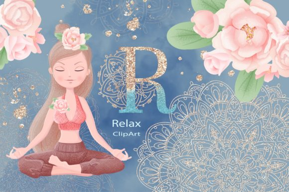 Print on Demand: Relax Set Graphic Illustrations By nicjulia