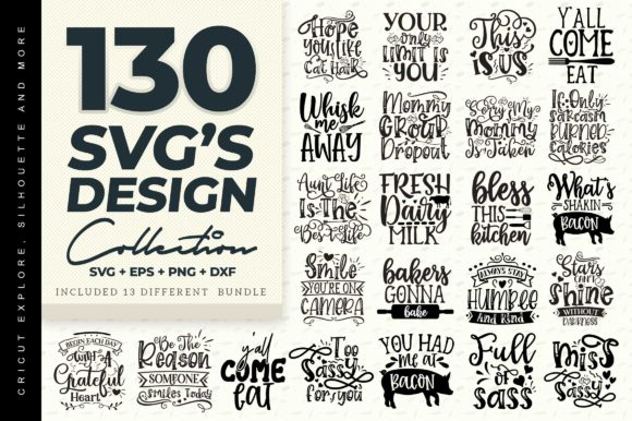 Print on Demand: SVG Design Big Bundle Grafik Plotterdateien von DesignFarm