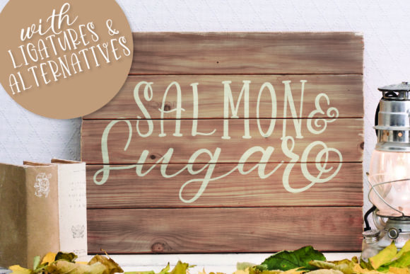 Print on Demand: Salmon & Sugar Display Font By Justina Tracy