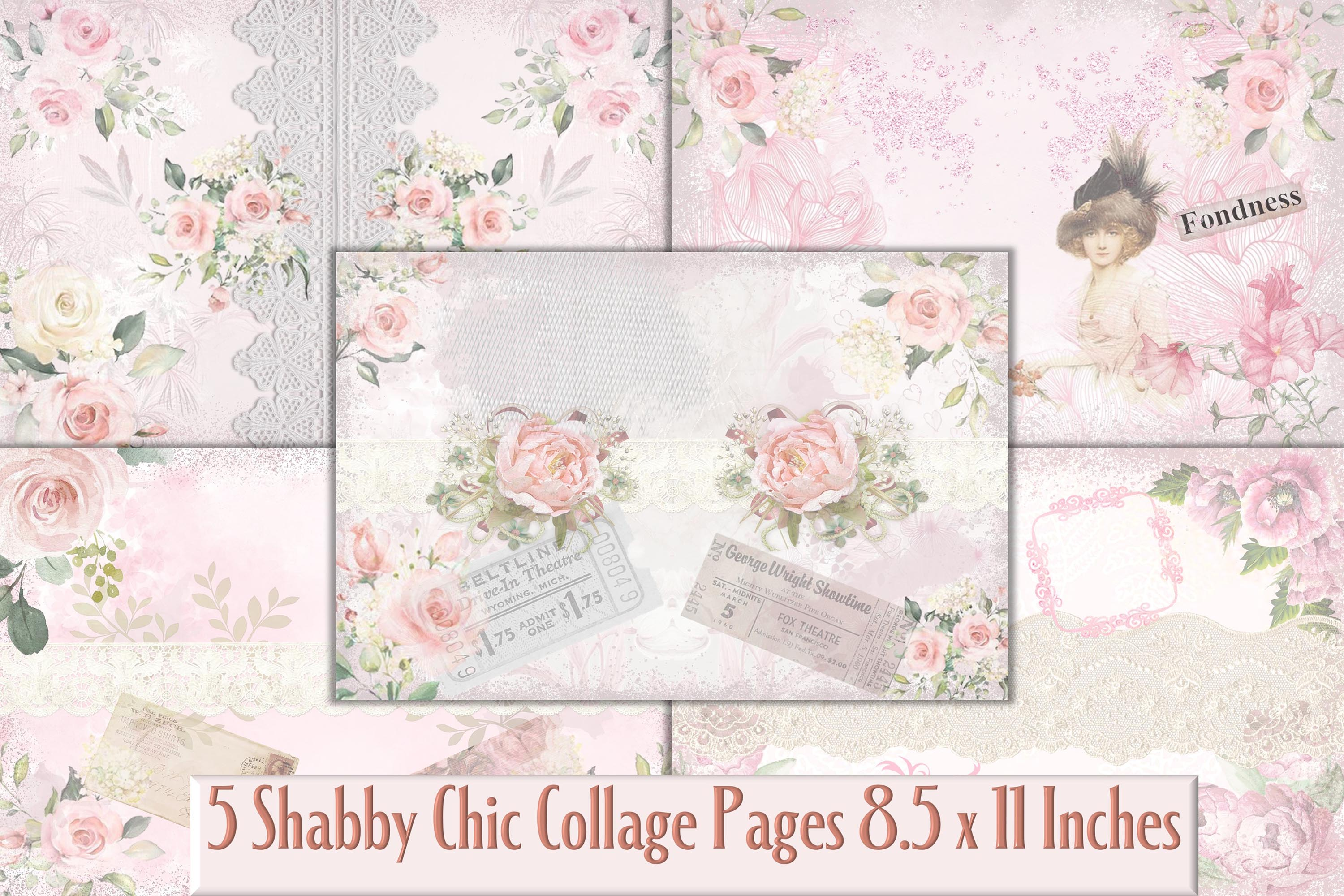 Shabby Chic Printable Backgrounds Graphic By The Paper Princess Creative Fabrica