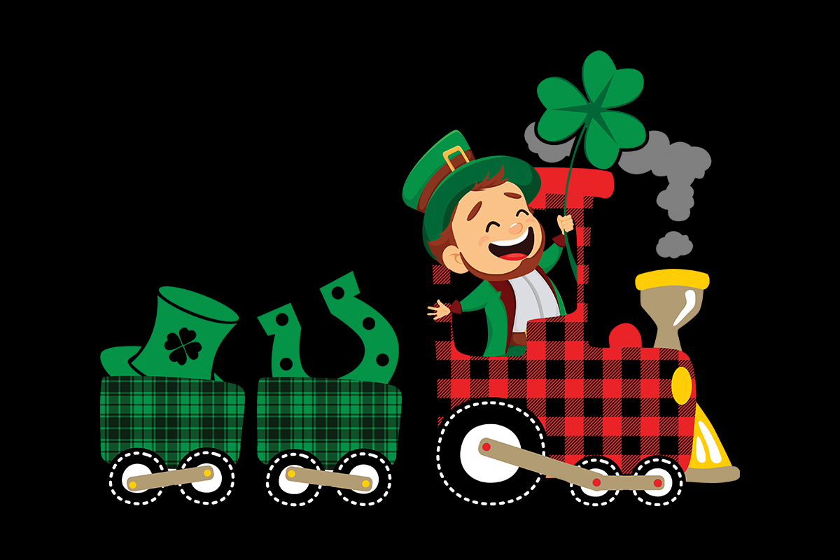 Download Free St Patrick S Leprechaun Train Clipart Graphic By Sunandmoon SVG Cut Files