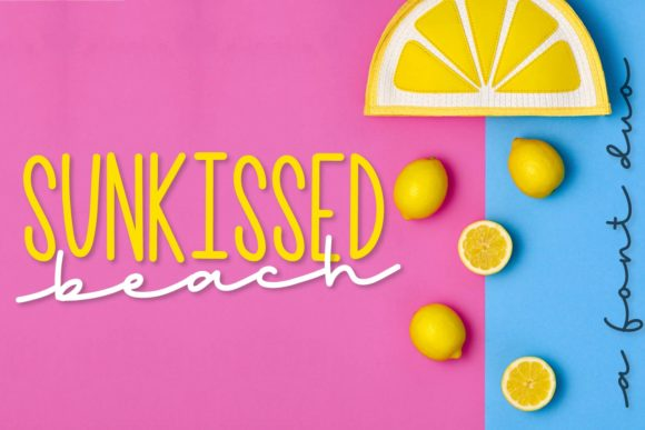 Print on Demand: Sunkissed Beach Display Font By Justina Tracy
