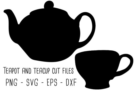 Print on Demand: Teapot and Teacup Graphic Objects By RoughDraftDesign