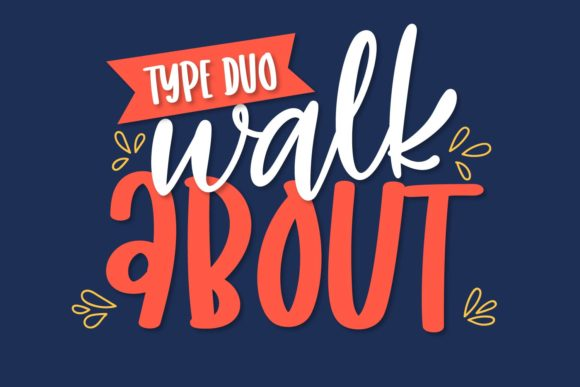 Print on Demand: Walk About Display Font By Justina Tracy