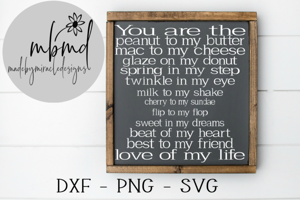 Download Free You Are The Peanut To My Butter Graphic By Madebymiracledesigns for Cricut Explore, Silhouette and other cutting machines.