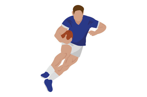 Rugby Player Sports Craft Cut File By Creative Fabrica Crafts