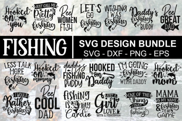 Download Free 23 Fishing Big Bundle Graphic By Designdealy Com Creative Fabrica for Cricut Explore, Silhouette and other cutting machines.