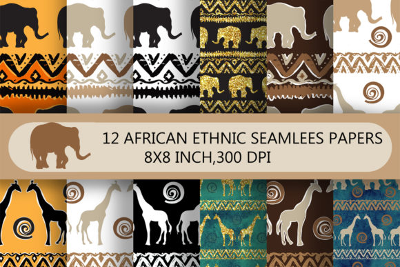 Download Free African Ethnic Seamless Patterns Pack Graphic By Arevkasunshine for Cricut Explore, Silhouette and other cutting machines.