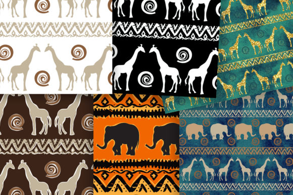 African Ethnic Seamless Patterns Pack Graphic Patterns By arevkasunshine - Image 3