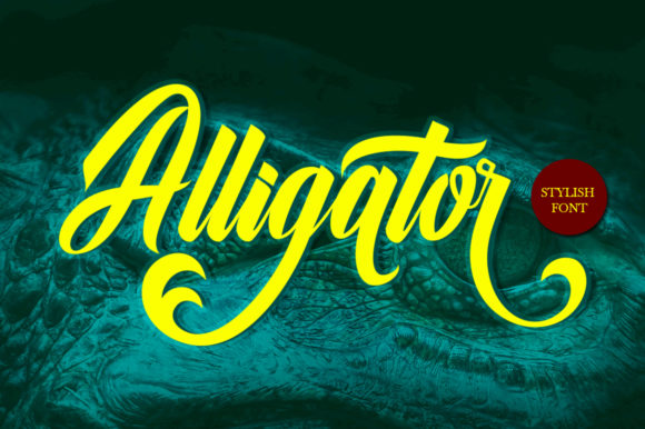 Print on Demand: Alligator Script & Handwritten Font By Musafir LAB