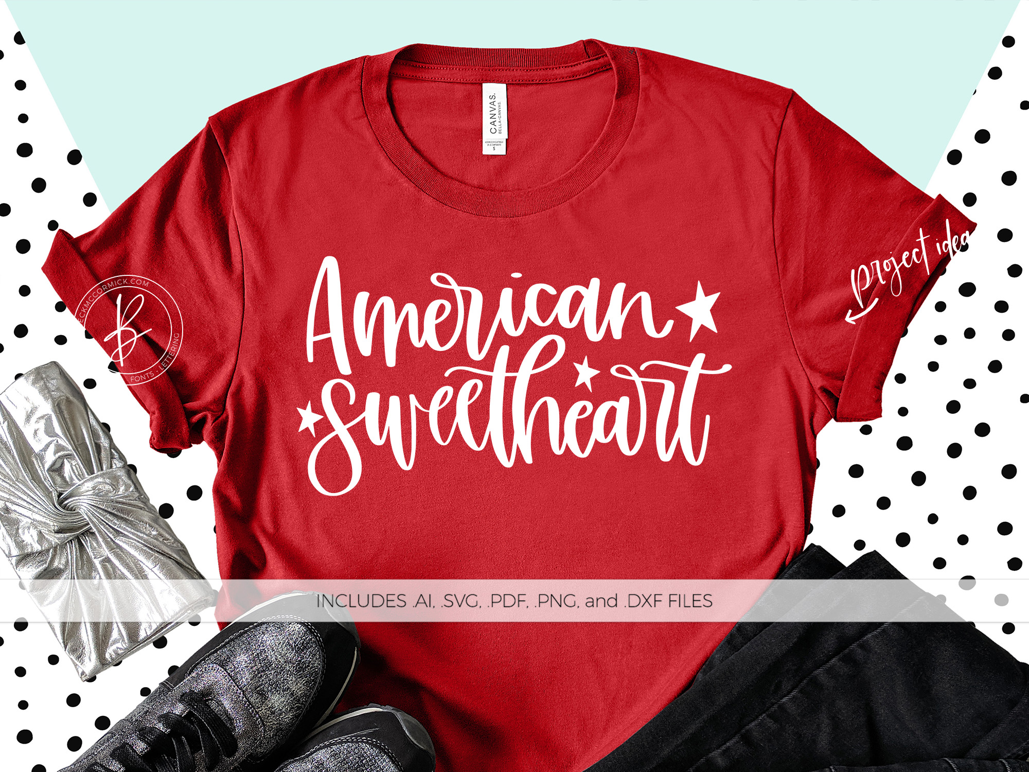 Download Free American Sweetheart Graphic By Beckmccormick Creative Fabrica for Cricut Explore, Silhouette and other cutting machines.