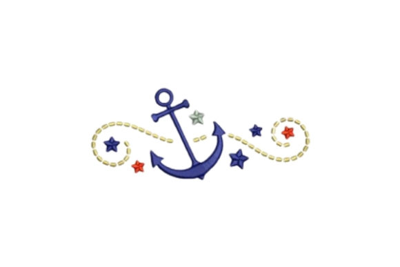 Anchors Beach & Nautical Embroidery Design By designsbymira - Image 1