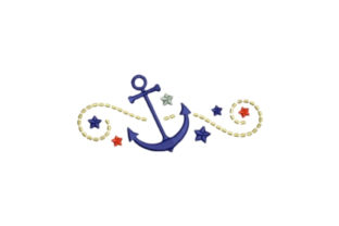 Anchors Beach & Nautical Embroidery Design By designsbymira