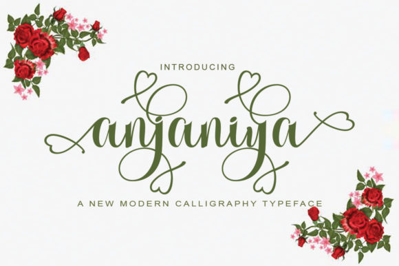 Download Free Anjania Font By Parawtype Creative Fabrica for Cricut Explore, Silhouette and other cutting machines.