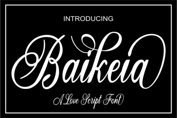 Print on Demand: Baikeia Script & Handwritten Font By Bot Kerling