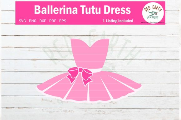 Ballerina Tutu Dress, Ballet Shoes Graphic Crafts By redearth and gumtrees