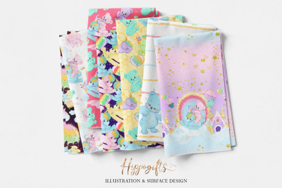 Bear and Unicorn Patterns Graphic Patterns By Hippogifts - Image 4