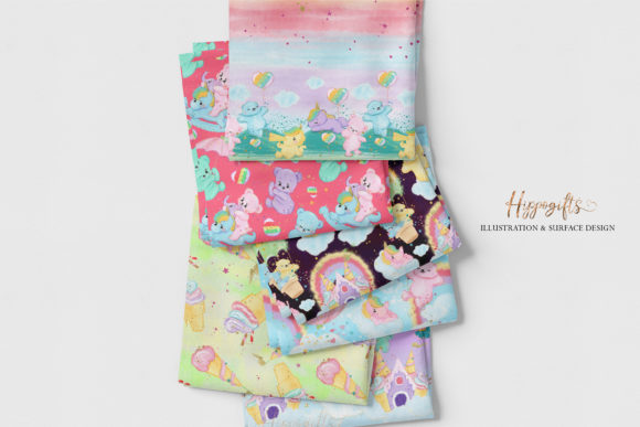 Bear and Unicorn Patterns Graphic Patterns By Hippogifts - Image 5