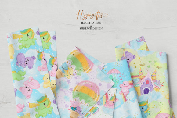 Bear and Unicorn Patterns Graphic Patterns By Hippogifts - Image 6