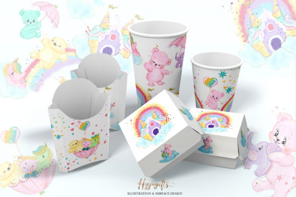 Bear and Unicorns Clip Arts Graphic Illustrations By Hippogifts - Image 9