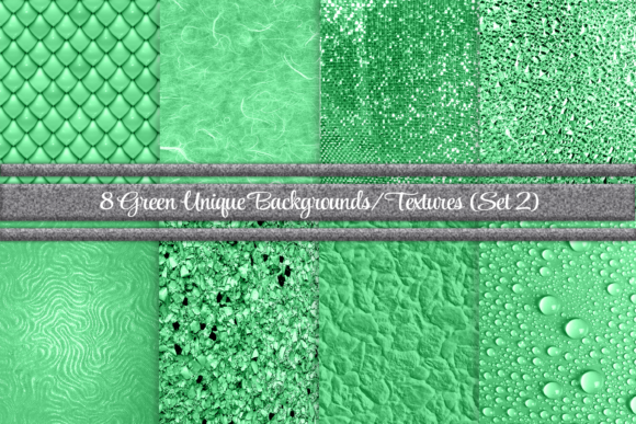 Print on Demand: Beautiful Green Backgrounds/Textures 2 Graphic Backgrounds By Angela Wheeland