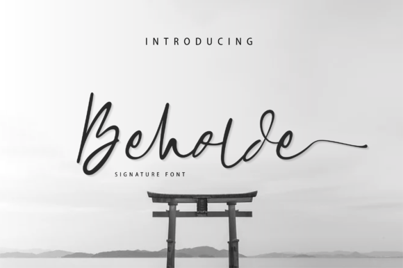 Print on Demand: Beholde Script & Handwritten Font By fanastudio