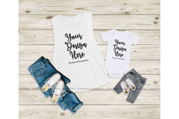 Print on Demand: Bella Canvas 8803 100B Mommy and Me Graphic Product Mockups By Mockup Station