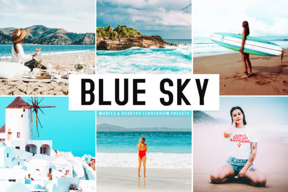 Print on Demand: Blue Sky Lightroom Presets Pack Graphic Actions & Presets By Creative Tacos