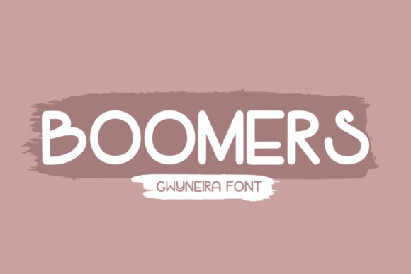 Print on Demand: Boomers Script & Handwritten Font By a.gwyneira