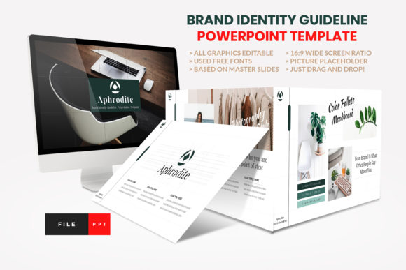 Brand Identity Guideline PowerPoint Graphic Presentation Templates By artstoreid