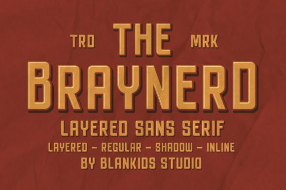 Print on Demand: Braynerd Sans Serif Font By Blankids Studio