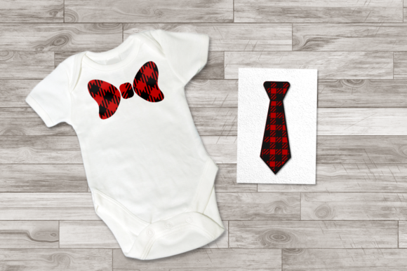 Download Free Buffalo Plaid Tie And Bow Tie Graphic By Risarocksit Creative for Cricut Explore, Silhouette and other cutting machines.