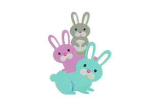 Bunny Baby Animals Embroidery Design By designsbymira