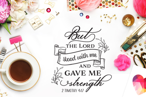 Download Free But The Lord Stood With Me Cut File Graphic By Nerd Mama Cut for Cricut Explore, Silhouette and other cutting machines.