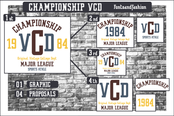 Championship VCD_PRINT Graphic Crafts By Fontsandfashion