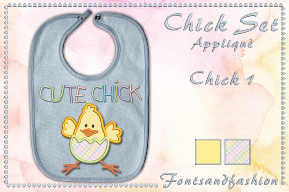 Chick Set Appliquè Easter Embroidery Design By Fontsandfashion - Image 2