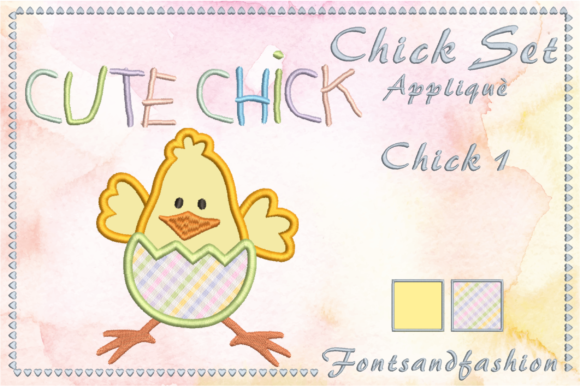 Chick Set Appliquè Easter Embroidery Design By Fontsandfashion - Image 3