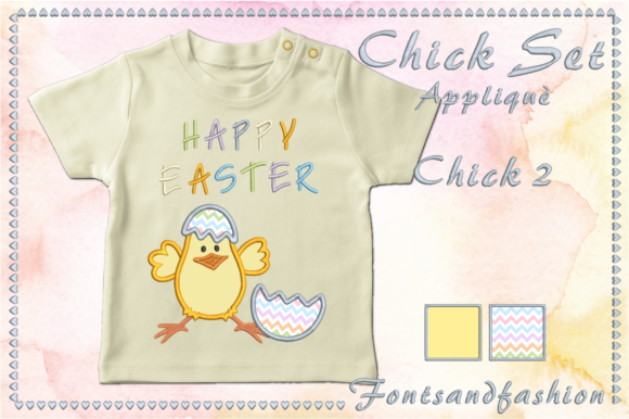 Chick Set Appliquè Easter Embroidery Design By Fontsandfashion - Image 4