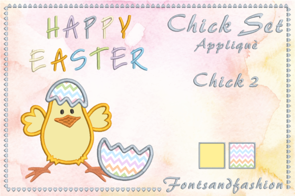 Chick Set Appliquè Easter Embroidery Design By Fontsandfashion - Image 5