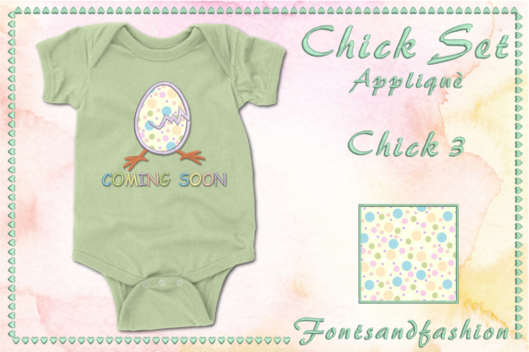 Chick Set Appliquè Easter Embroidery Design By Fontsandfashion - Image 6