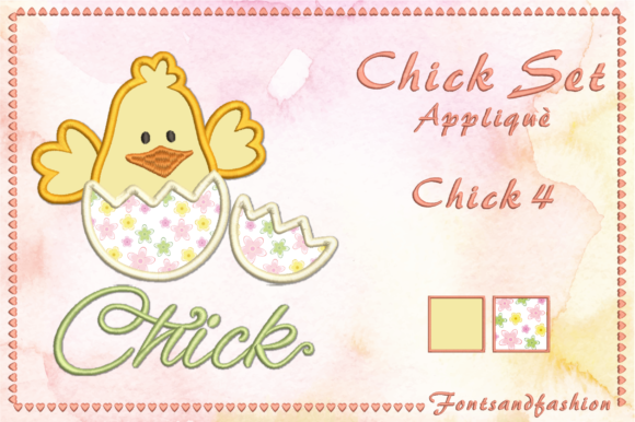Chick Set Appliquè Easter Embroidery Design By Fontsandfashion - Image 9