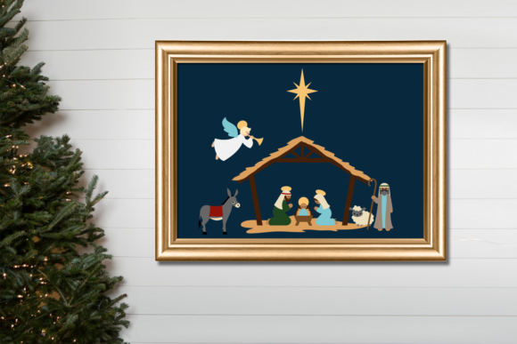 Christmas Nativity Graphic Crafts By RisaRocksIt