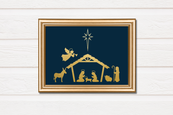 Download Free Christmas Nativity Graphic By Risarocksit Creative Fabrica for Cricut Explore, Silhouette and other cutting machines.