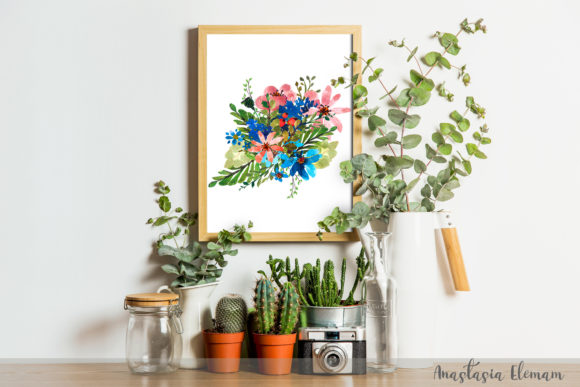 Composition Flower Power 5 Isolated Graphic Illustrations By anes_art - Image 3
