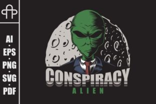 Print on Demand: Conspiracy Alien Vector Illustration Graphic Illustrations By Andypp