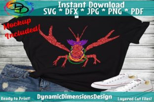 Download Free Crawfish Mardi Gras Graphic By Dynamicdimensions Creative Fabrica for Cricut Explore, Silhouette and other cutting machines.