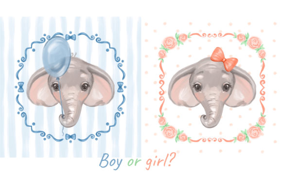 Download Free Cute Elephant Cliparts Graphic By Natalimyastore Creative Fabrica for Cricut Explore, Silhouette and other cutting machines.