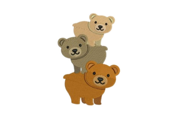 Cute Teddy Bears Baby Animals Embroidery Design By designsbymira